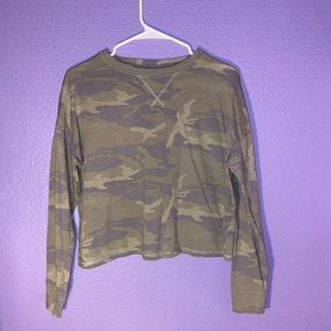 Abercrombie and Fitch Camo Top